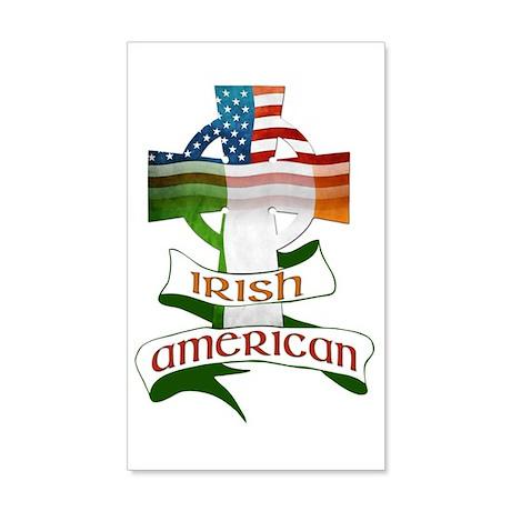 Irish American Celtic Cross 20x12 Wall Decal