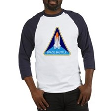 Space Shuttle Shield Baseball Jersey