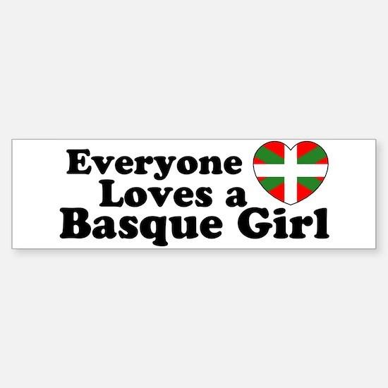 Basque Girl Bumper Bumper Bumper Sticker