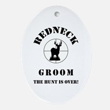 REDNECK GROOM Ornament (Oval)
