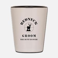 REDNECK GROOM Shot Glass