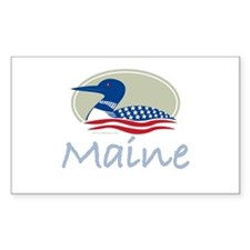 Proud Loon-Maine: Rectangle Decal