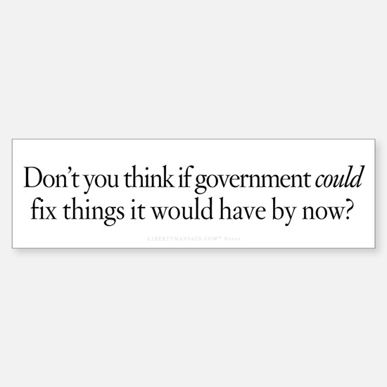 If Government Could Sticker (Bumper)