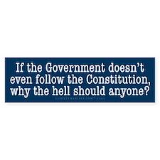 Following the Constitution Bumper Sticker