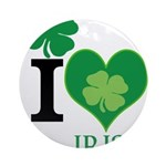 OYOOS Irish Heart design Ornament (Round)