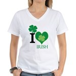 OYOOS Irish Heart design Women's V-Neck T-Shirt