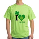 OYOOS Irish Heart design Green T-Shirt
