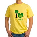 OYOOS Irish Heart design Yellow T-Shirt