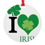 OYOOS Irish Heart design Round Ornament