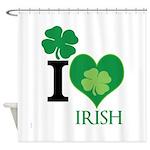 OYOOS Irish Heart design Shower Curtain