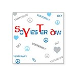 OYOOS SoYesterday design Square Sticker 3