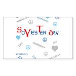 OYOOS SoYesterday design Sticker (Rectangle 50 pk)