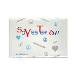 OYOOS SoYesterday design Rectangle Magnet (10 pack