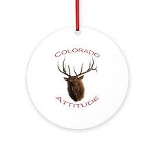 Colorado Attitude Ornament (Round)