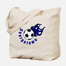 Georgetown on fire Tote Bag
