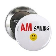 I AM Smiling Button
