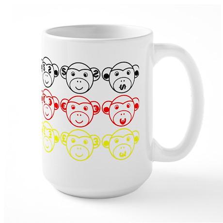 Monkey-Crisis Large Mug