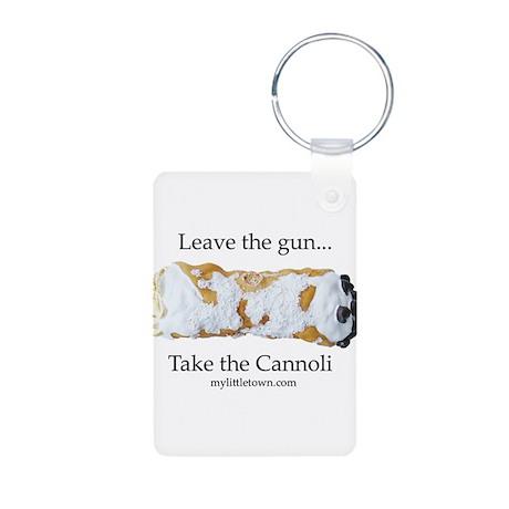 Cannoli Aluminum Photo Keychain