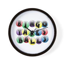 Bingo Balls Wall Clock