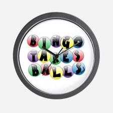 Bingo Balls Wall Clock