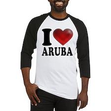 I Heart Aruba Baseball Jersey