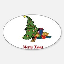 OYOOS Merry Xmas Tree design Sticker (Oval)