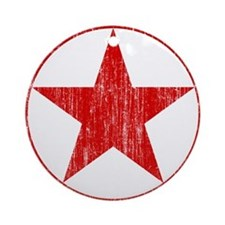 North Korea Roundel Aged.png Ornament (Round)