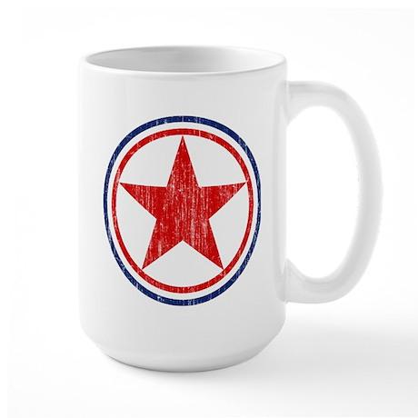 North Korea Roundel Aged.png Large Mug