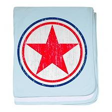 North Korea Roundel Aged.png baby blanket