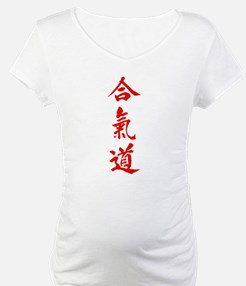 Aikido red in Japanese calligraphy Shirt
