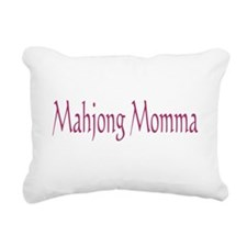 Mahjong Momma Rectangular Canvas Pillow