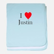 i love justin heart baby blanket