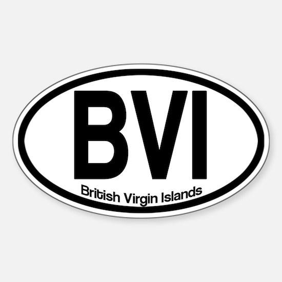British Virgin Islands Sticker (Oval)