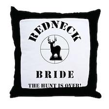 REDNECK BRIDE BLACK.png Throw Pillow