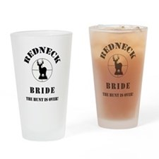 REDNECK BRIDE BLACK.png Drinking Glass