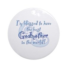 Blessed Godmother BL Ornament (Round)
