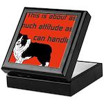 OYOOS Dog Attitude design Keepsake Box