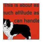 OYOOS Dog Attitude design Tile Coaster