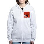 OYOOS Dog Attitude design Women's Zip Hoodie