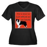 OYOOS Dog Attitude design Women's Plus Size V-Neck