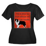 OYOOS Dog Attitude design Women's Plus Size Scoop