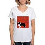 OYOOS Dog Attitude design Women's V-Neck T-Shirt
