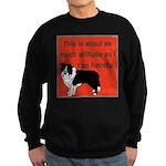 OYOOS Dog Attitude design Sweatshirt (dark)