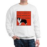 OYOOS Dog Attitude design Sweatshirt