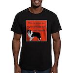 OYOOS Dog Attitude design Men's Fitted T-Shirt (da