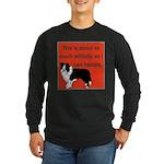 OYOOS Dog Attitude design Long Sleeve Dark T-Shirt