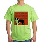 OYOOS Dog Attitude design Green T-Shirt