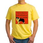 OYOOS Dog Attitude design Yellow T-Shirt