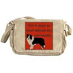 OYOOS Dog Attitude design Messenger Bag