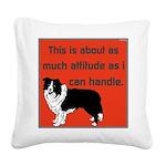 OYOOS Dog Attitude design Square Canvas Pillow